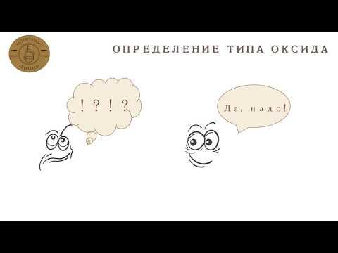 Как определить тип оксида