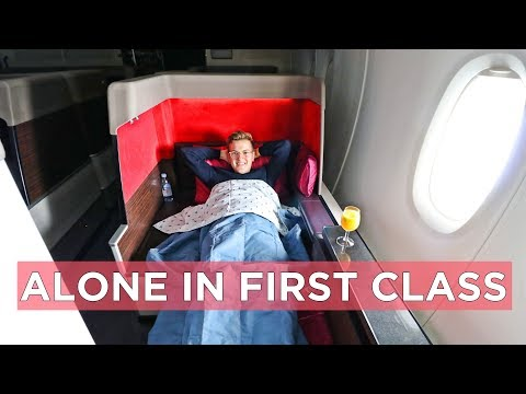 ALONE IN MALAYSIA AIRLINES A380 FIRST CLASS