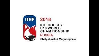 2018 U18 World Junior Championship Russia Czech Republic vs. Russia