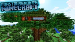 Como hacer una casa árbol para survival en minecraft OmarZcraft
