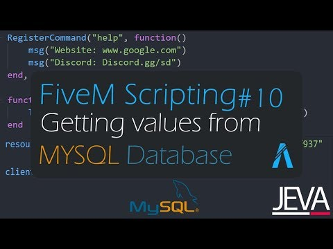 FiveM Scripting 9 - Setting up MYSQL Database and Inserting