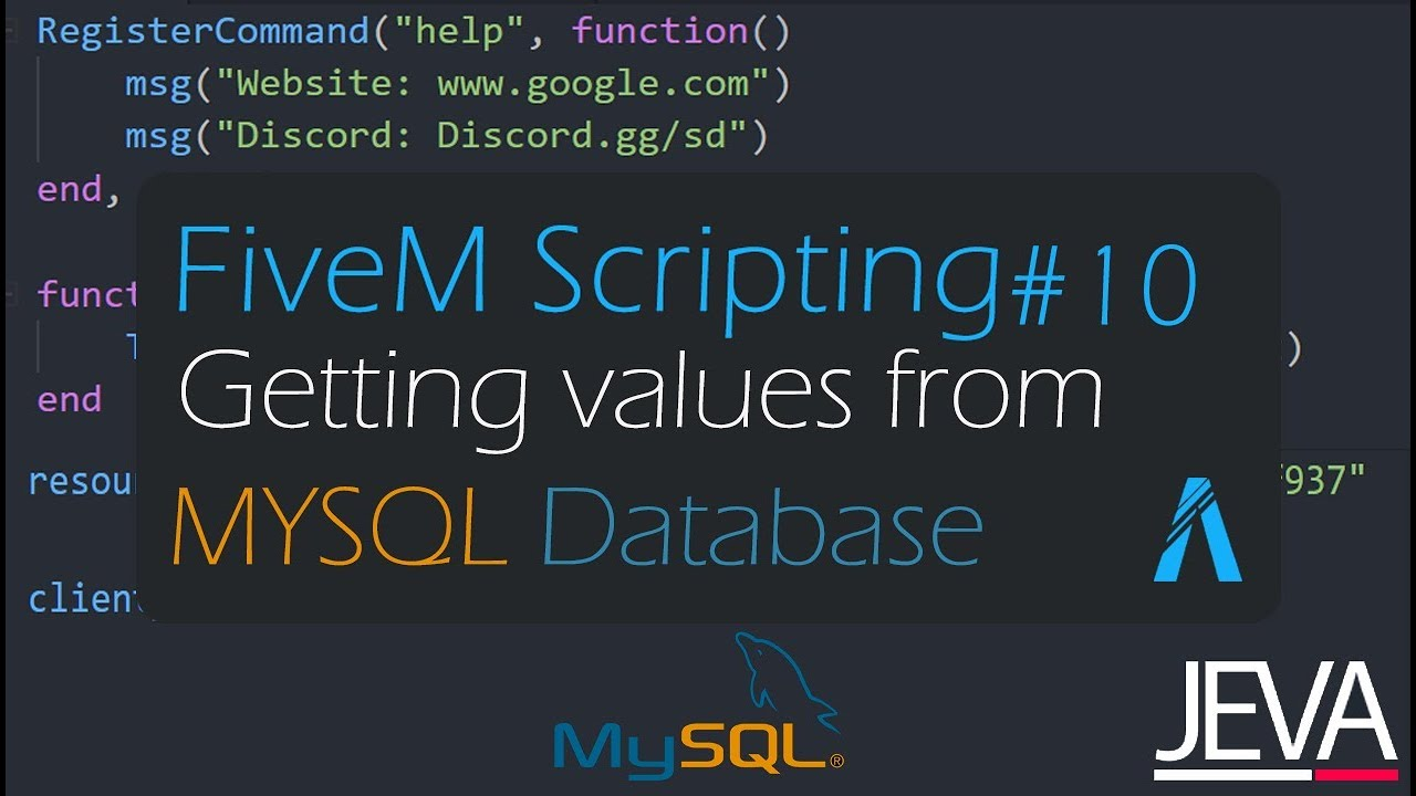 FiveM Scripting 10 - Getting Values From MYSQL
