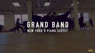 Grand Band Piano Sextet in rehearsal with Missy Mazzoli