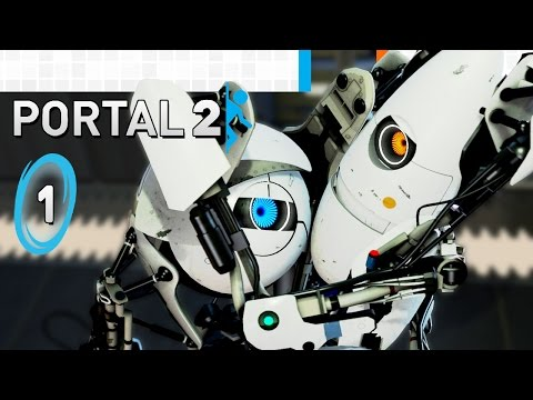 Portal 2 - Co-op Episode 1 - Calibration & Course 1: Team Building Chambers 1, 2, 3 (2-Player)