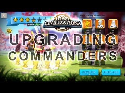 Rise of Civilizations - Upgrading my Commanders (Before Talent 2.0 Update)