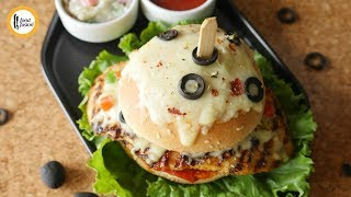 Spicy Pizza Burger Recipe By Food Fusion