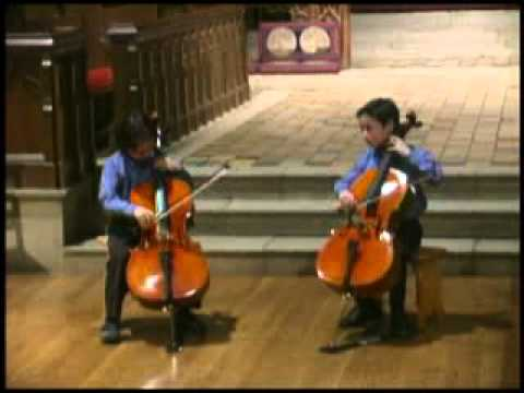 """Vivaldi """"double"""" Concerto And Yesterday (Beatles) - 2010 02 27 Julian Shively (9) And Friend"""