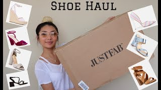 Huge JustFab Shoe Haul / Try on & Review