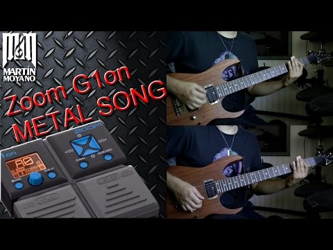 Zoom G1on / G1Xon - Metal Song with Factory Patches and effects