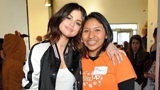 Selena Gomez Surprises Unsuspecting High School Students -- See the Pics!