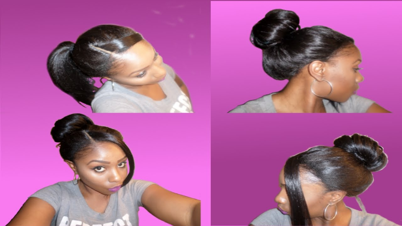 How To Style a Lace Wig: UpDo Ponytail Bun (5 effortless styles ...