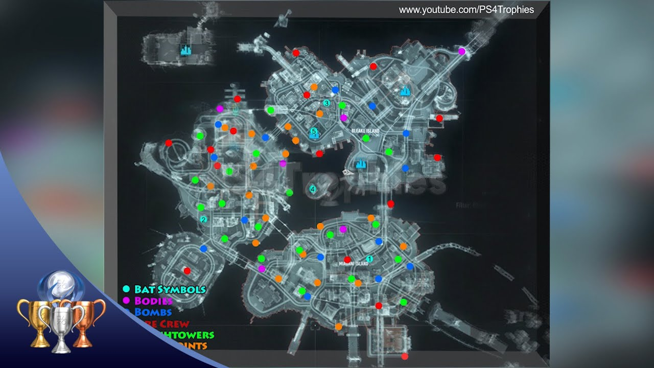 Batman Arkham Knight Map Batman Arkham Knight Map   Symbols, Mutilated Bodies, Bombs, Fire
