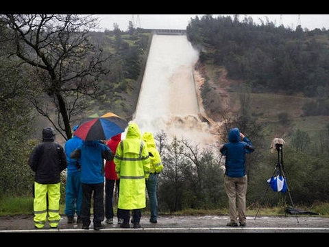 LOOK IT, Nation's tallest dam, Lake Oroville, damaged amid storms