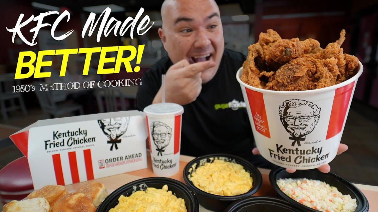 I tried KFC's ORIGINAL Pressure Fryer Method | Guga Foods