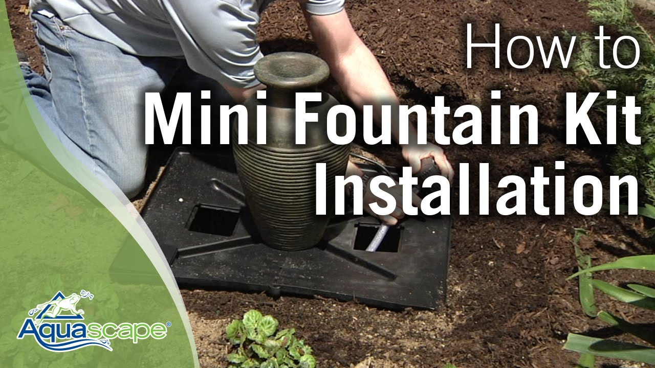 How To Install An Aquascape Mini Fountain Kit Youtube