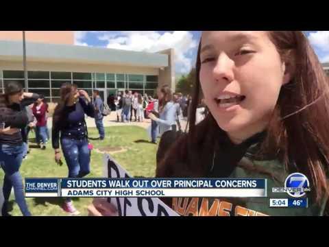 Adams City High School students walk out over principal concerns