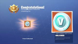 Free 500 vbuck? (Desc) (Fortnite Season 8)