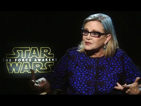 star wars force awakens carrie fisher interviews