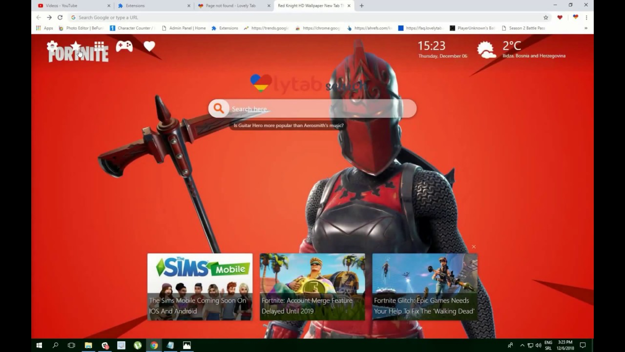 Red Knight Hd Wallpaper New Tab Theme Youtube