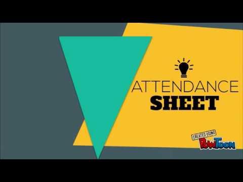 attendance sheet app ats youtube