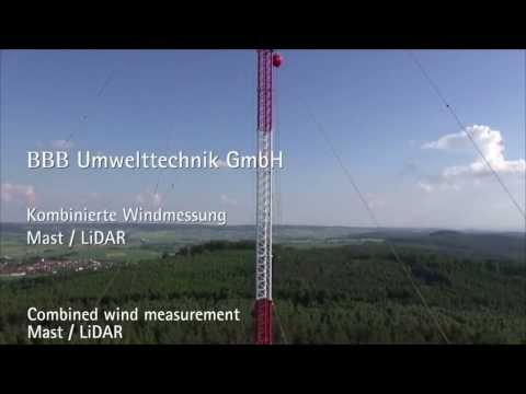 Combined Wind Measurement with LiDAR System and Met Mast (english subtitles)