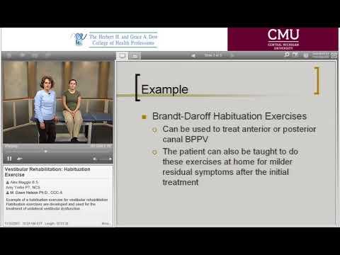 Vestibular Rehabilitation Habituation Exercise - YouTube