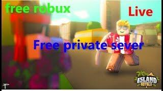 🔴Roblox island royale free private server🔴