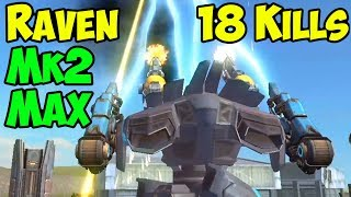 War Robots MK2 Scourge Raven 18 Kills FFA Hunter Gameplay - WR
