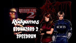 Biohazard 2: Treinando Speedrun... (00:57:09) LEON A (NORMAL)
