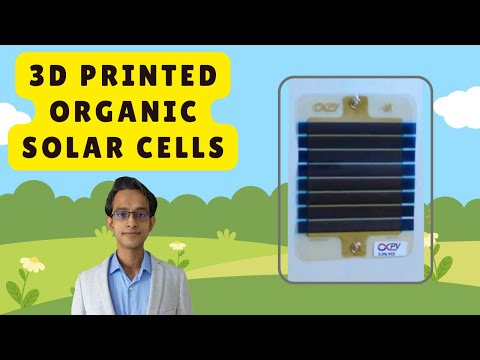 Printed Organic Solar Cells Technology