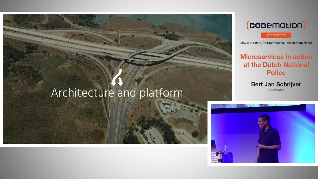 Microservices In Action At The Dutchnationalpolice Bert Jan Schrijver Codemotion Amsterdam 2018 Youtube