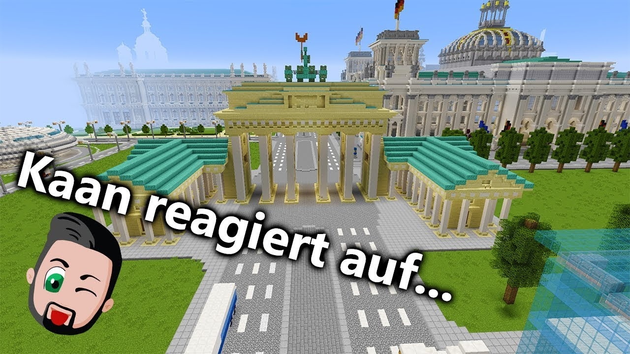 ECHTE STÄDTE IN MINECRAFT! World Of Worlds Map - Dubai, Berlin, New York,  London - Kaan reagiert!