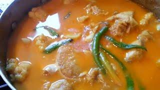 Ayer mass tarkari gobi boneless  fish curry with cauliflower traditional bengali home cooking
