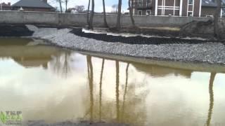Укрепления берега пруда георешеткой. с. Вишенки(, 2016-03-20T14:47:33.000Z)