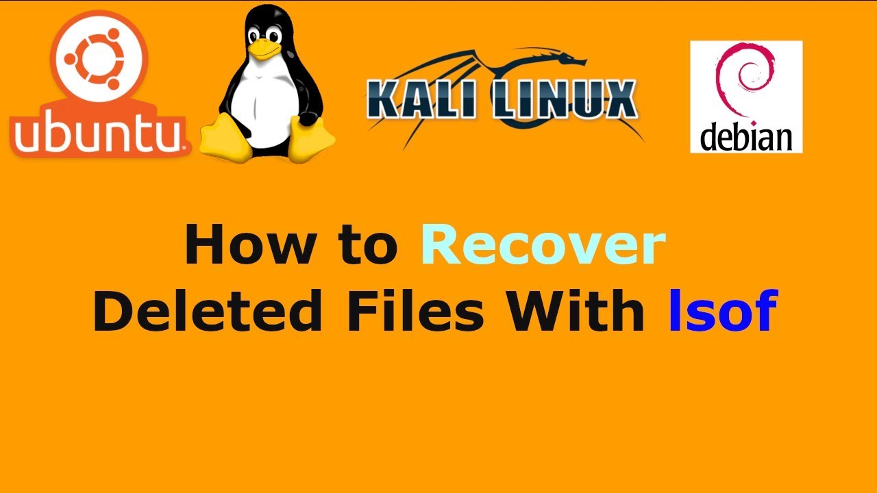 how to find recently deleted files in linux