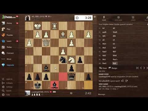 Cú lừa bẫy Hậu ngoạn mục Cao thủ Anh Elo 2000 của Chess TC thật là quá hay - Cú lừa bẫy Hậu ngoạn mục Cao thủ Anh Elo 2000 của Chess TC thật là quá hay