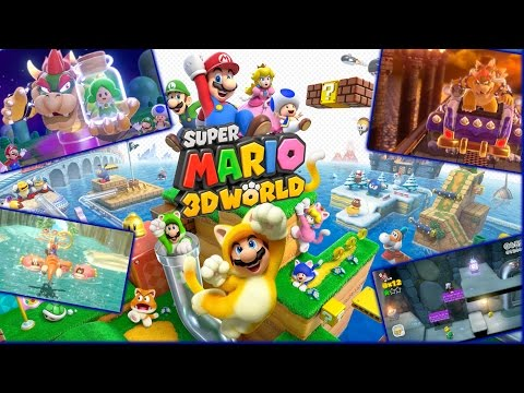 Super Mario 3D Land - Full Game Walkthrough (Worlds 1 through 8)