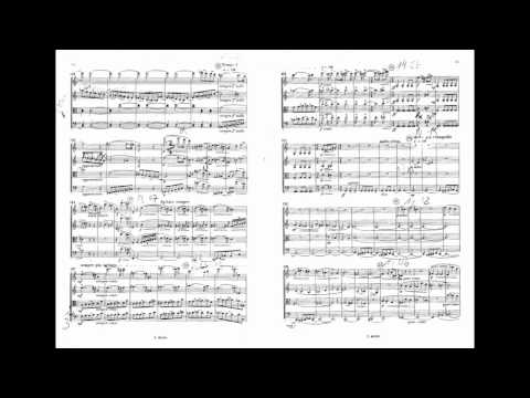 Béla Bartók String Quartet No. 1 Op. 7, II - Poco A Poco Accelerande All' Allegretto (with Score)