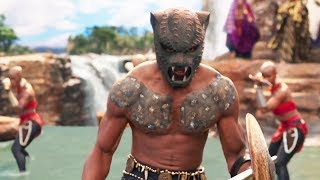 Black Panther - Prince T'Challa & M'Baku Fight Scene at King's ceremony