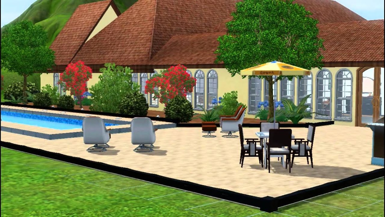 french style country house sims 3 youtube