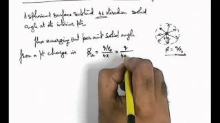 23. Physics | Electric Flux | Electric Flux Calculation due to a Point Charge Using Solid Angle (GA)