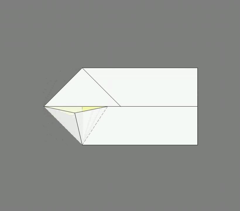 Оригами схема сборки лиса