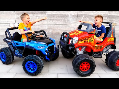 Vlad and Niki play with Monster Truck - Game for children