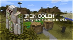 IRON GOLEM: Everything you Need to Know - MINECRAFT 1.14 Guide for Drops, Spawning, Farming & More