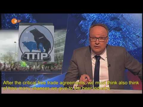 [English subtitles] Heute Show: TTIP, EU-US free trade challenges. 5/6/2016
