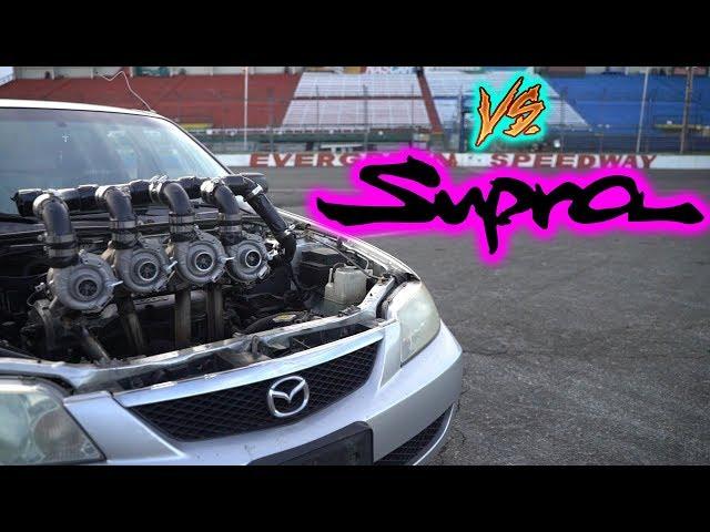QUAD TURBOS vs. SUPRA (DRAG RACE)