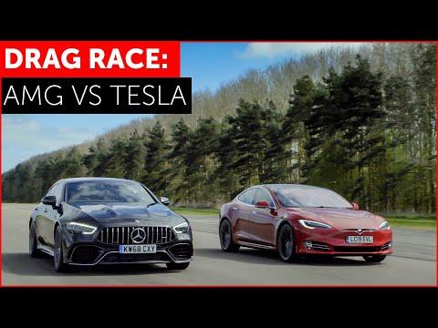 Tesla Model S P100D vs Mercedes-AMG GT 63 4-Door Drag Race