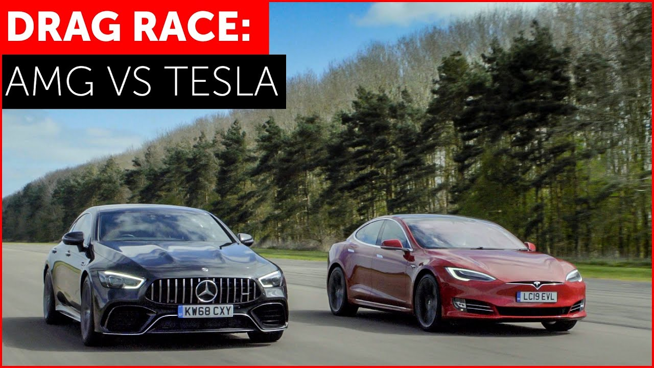 Tesla Model S P100D vs Mercedes-AMG GT 63 4-Door Drag Race