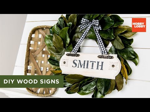 DIY Wood Signs   Hobby Lobby®