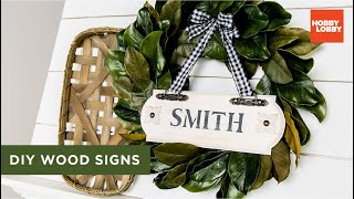 Diy Wood Signs | Hobby Lobby®
